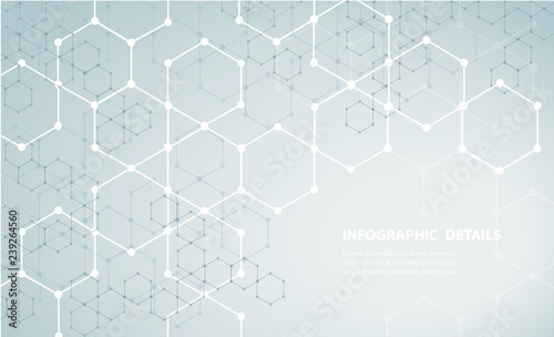 Canvas Print the shape of hexagon concept design abstract technology background vector EPS10