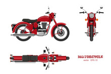 Retro Classic Motorcycle In Re...