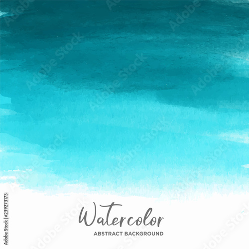 Photo Stands Turquoise blue watercolor texture background