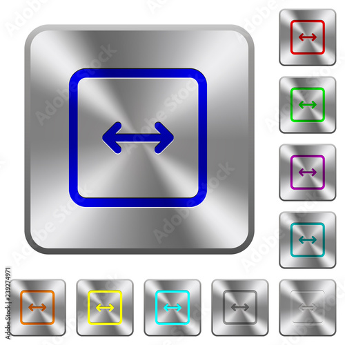 Fotografering  Adjust object width rounded square steel buttons
