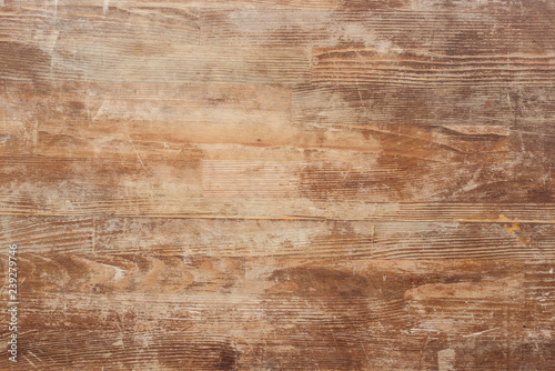 Fototapeta empty old brown wooden table background obraz