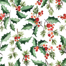 Christmas Watercolor Seamless ...