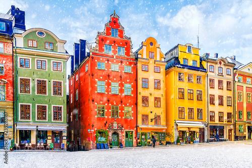 Foto auf AluDibond Stockholm winter in Stockholm, Sweden