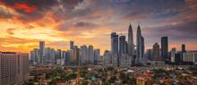 City Of Kuala Lumpur, Malaysia At Sunrise