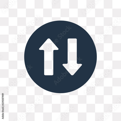 Fotografie, Tablou  Two way vector icon isolated on transparent background, Two way  transparency co