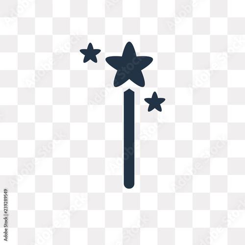 Fotografie, Obraz  Magic wand vector icon isolated on transparent background, Magic wand  transpare