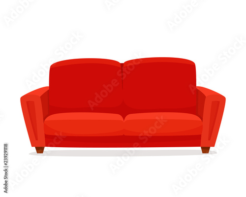 Fotografering Comfortable sofa on white background