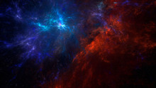 Colorful Galaxies, Nebula In Abstract Space Background