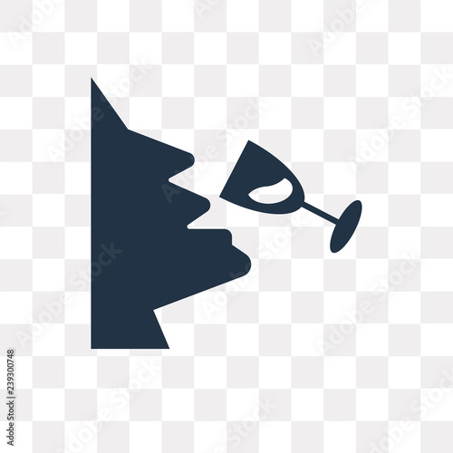Wine Tasting Vector Icon Isolated On Transparent Background Wine