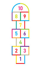Hopscotch Game. Children Stree...