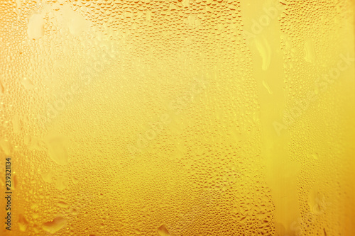 Water vapor in cold Drops of water on a glass of beer , droplets Misted abstract pattern texture background Poster Mural XXL