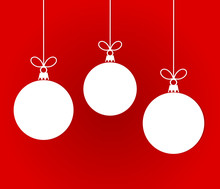 White Christmas Hanging Bauble...