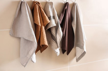 Clean Kitchen Towels Hanging O...