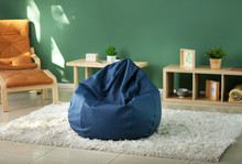 Beanbag Chair In Interior Of R...