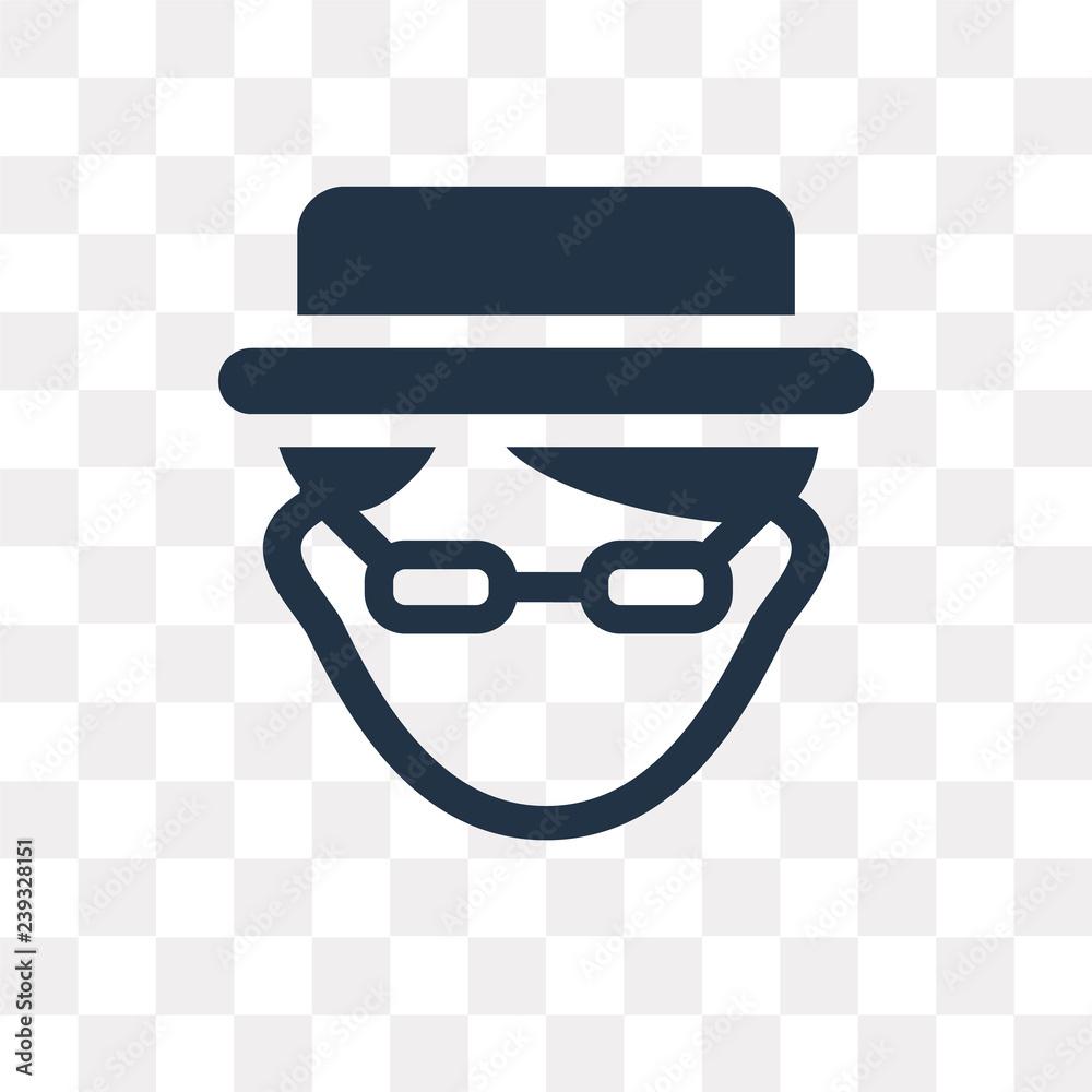 Photo  Heisenberg vector icon isolated on transparent background, Heisenberg  transpare
