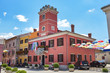 canvas print picture - Rathaus in Novigrad / Istrien