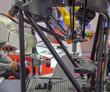 CMM Coordinate Measuring Machine work with robotic arm loading wokpiece