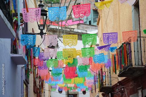 Valokuva  Papel Picado Fête des Morts Guanajuato Mexique - Día de los Muertos México