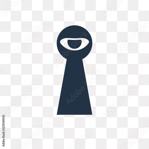 Fotografía  Spyware vector icon isolated on transparent background, Spyware  transparency co