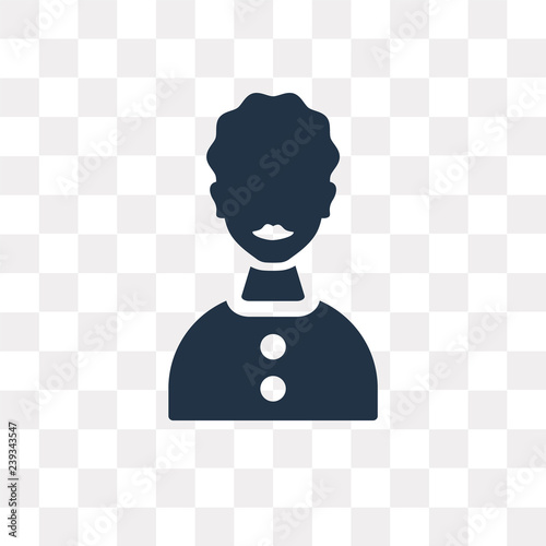 Photo  Woman vector icon isolated on transparent background, Woman  transparency concep
