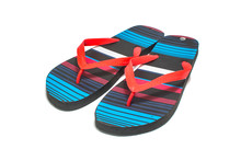 Colorful Stripe Flip Flops Iso...