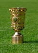 canvas print picture - DFB Pokal auf Rasen