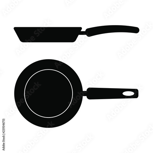 Vászonkép Frying pan icon on white background