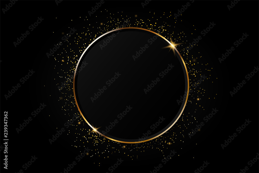 Fototapety, obrazy: Golden circle abstract background.