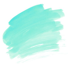 Turquoise Watercolor Stain Min...