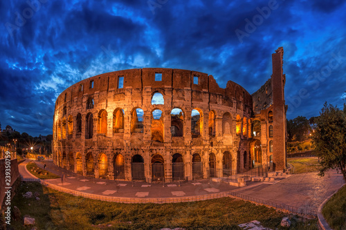 Colosseum in the evening, Rome, Italy Wallpaper Mural