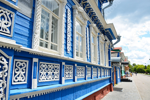 GORODETS, RUSSIA - JUNE 19, 2018: Old architecture on the streets of Gorodets, N Fototapeta