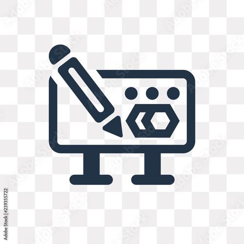Fotografia  Scientific vector icon isolated on transparent background, Scientific  transpare