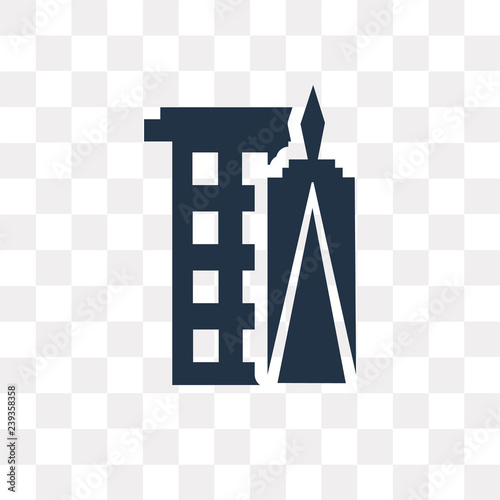 Photo  World trade center vector icon isolated on transparent background, World trade c
