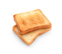 Tasty Toasted Bread On White B...