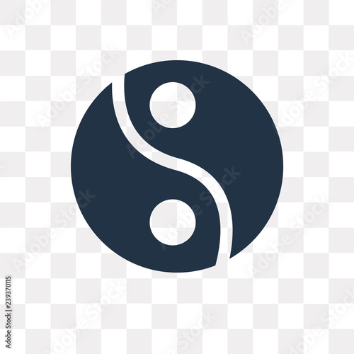 Fotografie, Obraz  Yin yang vector icon isolated on transparent background, Yin yang  transparency