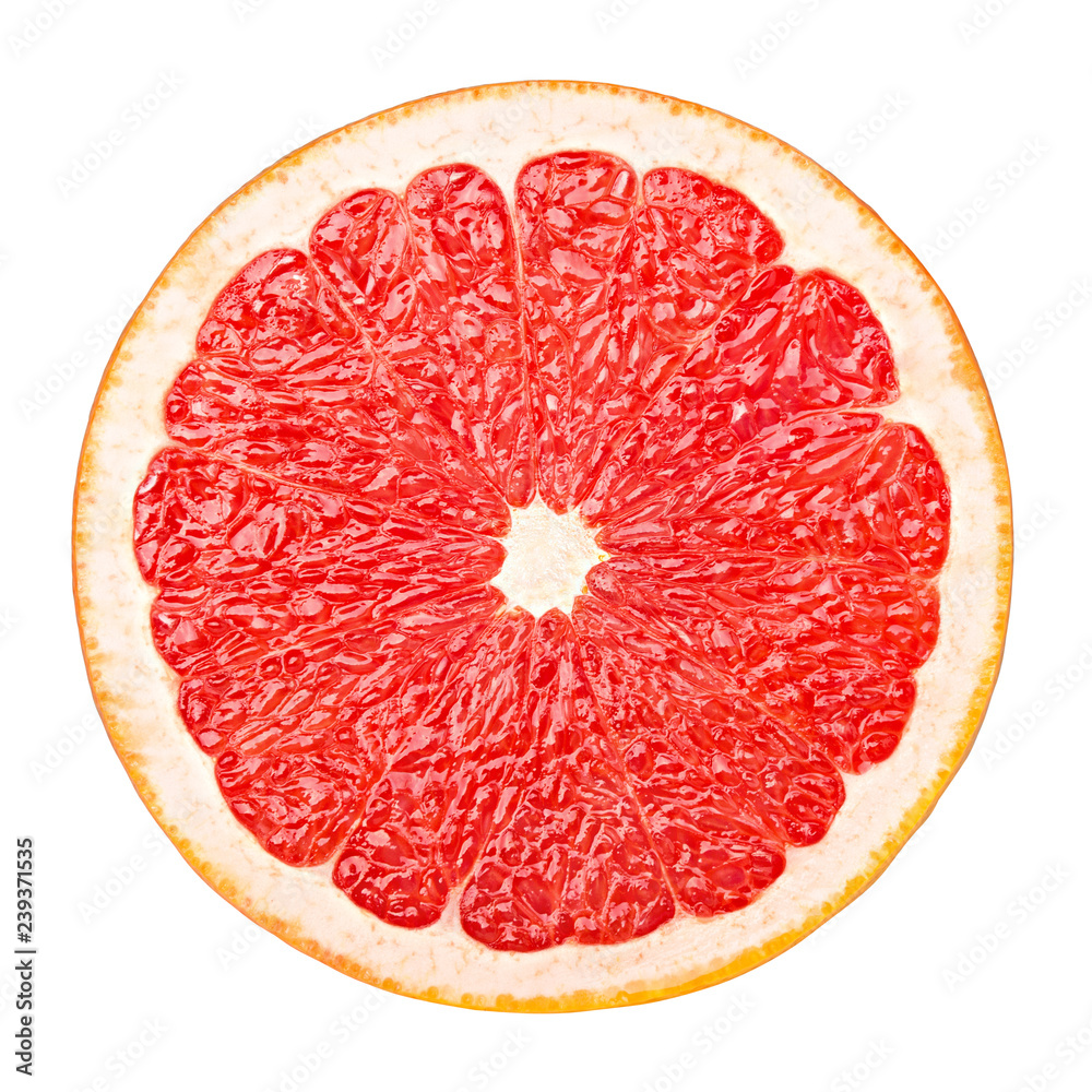 Fotografie, Obraz red grapefruit, clipping path, isolated on white background