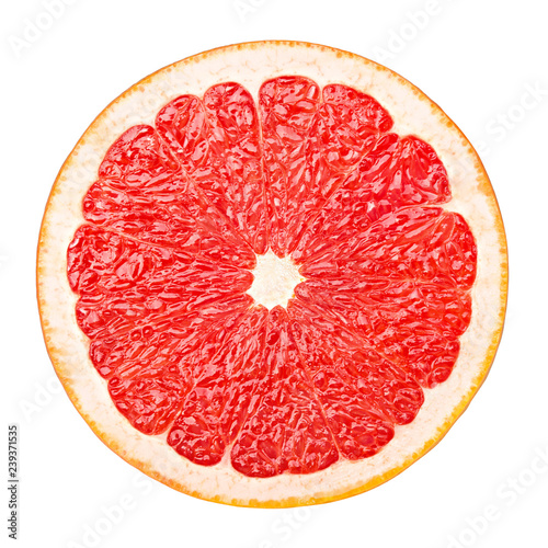 Fototapeta red grapefruit, clipping path, isolated on white background