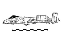 Fairchild A-10A THUNDERBOLT II. Outline Drawing