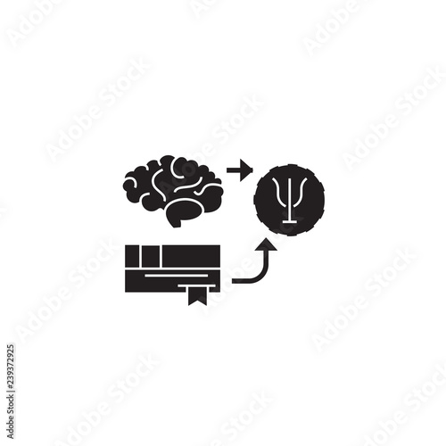 Fotografija  Psychoanalysis black vector concept icon