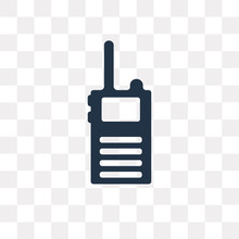 Walkie Talkie Vector Icon Isol...