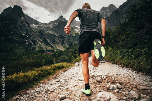 Fotomural Trail runner in mountains