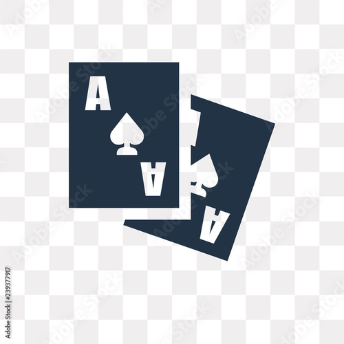 Photo Ace of spades vector icon isolated on transparent background, Ace of spades  tra