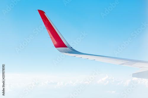 Poster Afrique du Sud Modern wing of jet plane during flight