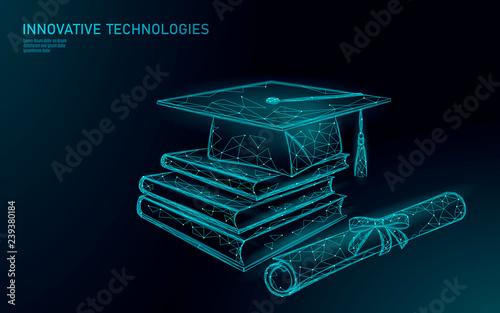 Obraz na płótnie E-learning distant graduate certificate program concept