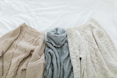 Fotografie, Obraz  Flat lay autumn and winter fashion photography