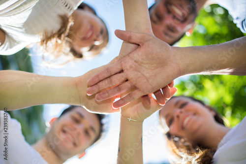 Fotografie, Obraz  Friends comforting one another and make a promise