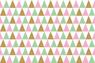 bezszwowe tło świąteczne wzory w złoto, różowy i zielony na białym tle