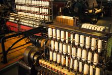 Rows Of White Cotton Threads O...
