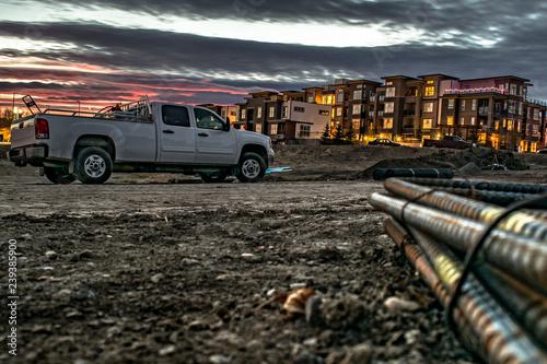 Obraz Rebar Sunset - fototapety do salonu
