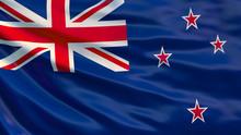 New Zealand Flag. 3D Illustrat...